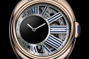 Replica-Clé-de-Cartier-Mysterious-Hour-pink-gold-dial