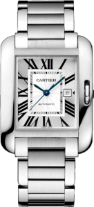 Cartier Tank Anglaise Steel Replica Watches for Men