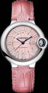 Women's Pink Ballon Bleu de Cartier 33mm Replica Watches