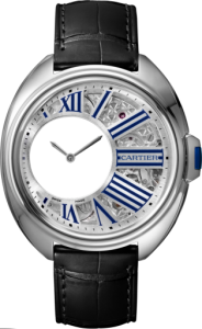Men's Palladium Clé de Cartier Mysterious Hours Replica Watches