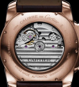 Men's Pink Gold Calibre de Cartier Chronograph Fake Watches