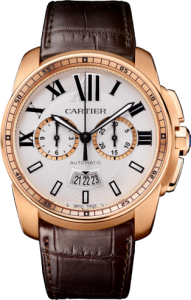 Men's Pink Gold Calibre de Cartier Chronograph Replica Watches