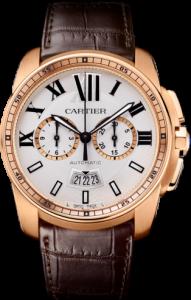 Men's Pink Gold Calibre de Cartier Chronograph Replica Watches