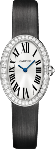 Women's White Gold Diamond Cartier Baignoire Fake Watches
