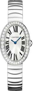 Women's White Gold Diamond Cartier Baignoire Replica Watches