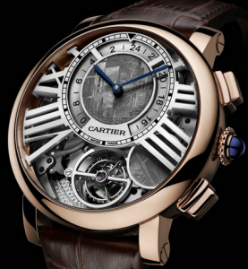 Functional Rotonde de Cartier Tourbillon Dual Time Moon Phase Replica Watches