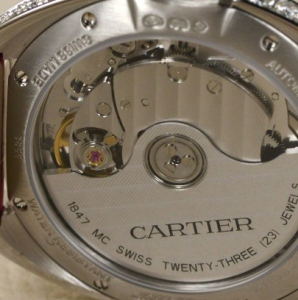 Women's Clé De Cartier Fake Watches With Diamonds