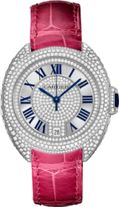 Women's Clé De Cartier Replica Watches With Diamonds