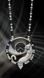 Creative Jeweled Cartier Panthère Mystérieuse Fake Watches