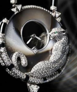 Creative Jeweled Cartier Panthère Mystérieuse Replica Watches