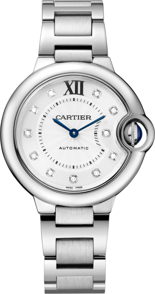 Replica Ballon Bleu De Cartier Watches With Diamond Hour Markers