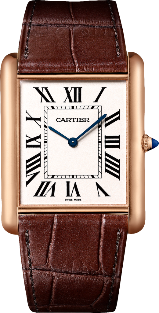 Brown Alligator Straps Replica Cartier Tank Watches