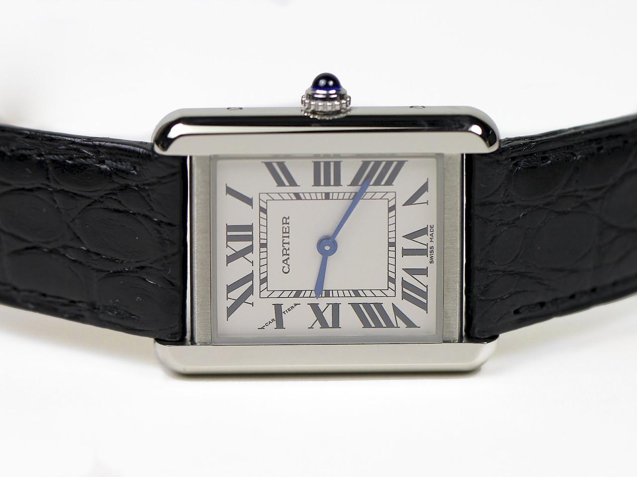 Black Roman Markers Replica Cartier Tank Solo Watches