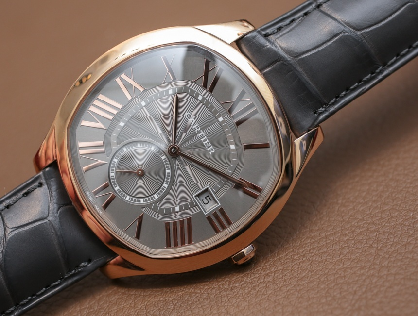 Pink Gold Bezels Copy Drive De Cartier Watches