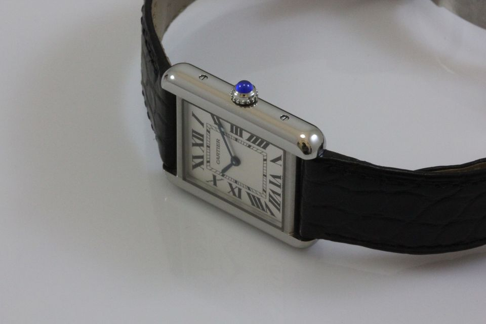 Steel Cases Replica Cartier Tank Solo Watches