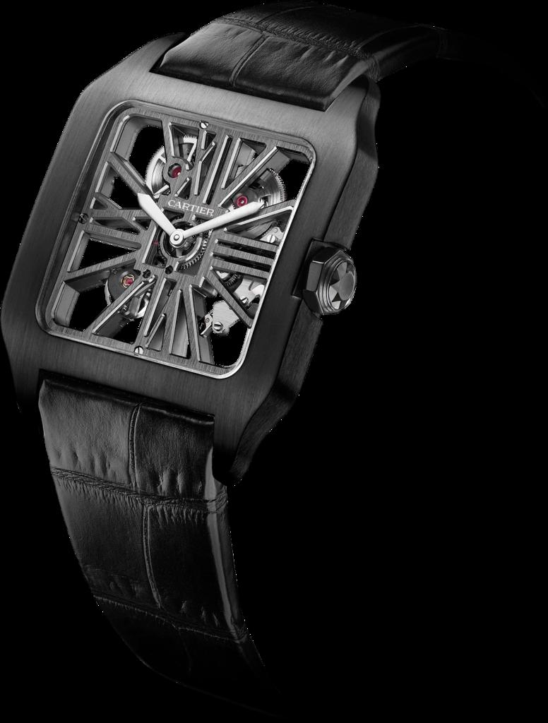 Titanium Cases Cartier Santos-Dumont Skeleton Fake Watches