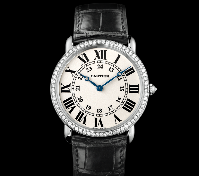 Blue Hands Ronde Louis Cartier Fake Watches