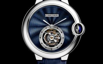 Blue Leather Straps Ballon Bleu De Cartier Flying Tourbillon Replica Watches