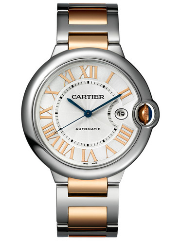 Fashion Cheap Cartier Ballon Blue Replica Watches With Silver White Dials For Men