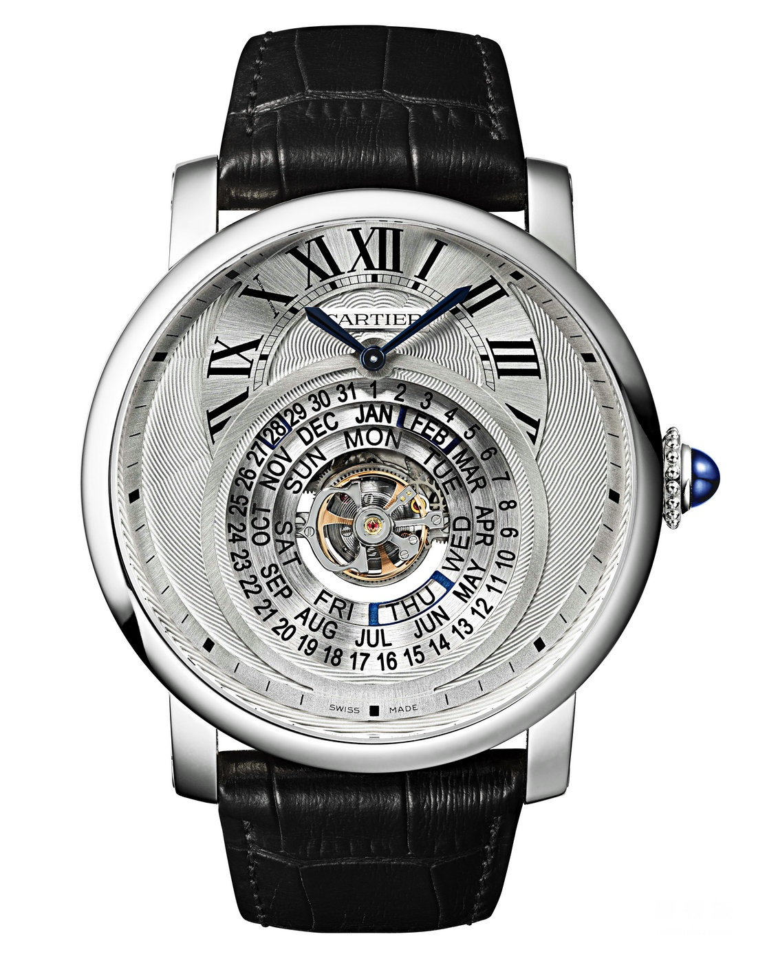 Rotonde De Cartier Astrocalendaire Replica W1556242 Watches With Silver Dials