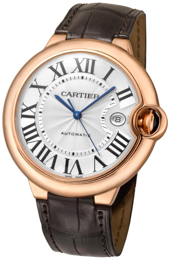 Copy Ballon Bleu De Cartier male watches clearly show the date function.