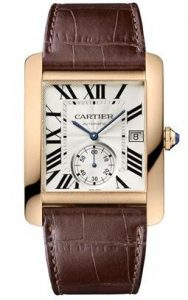 Silver for dials, Swiss Cartier Tank reproductions ensure excellent readability.