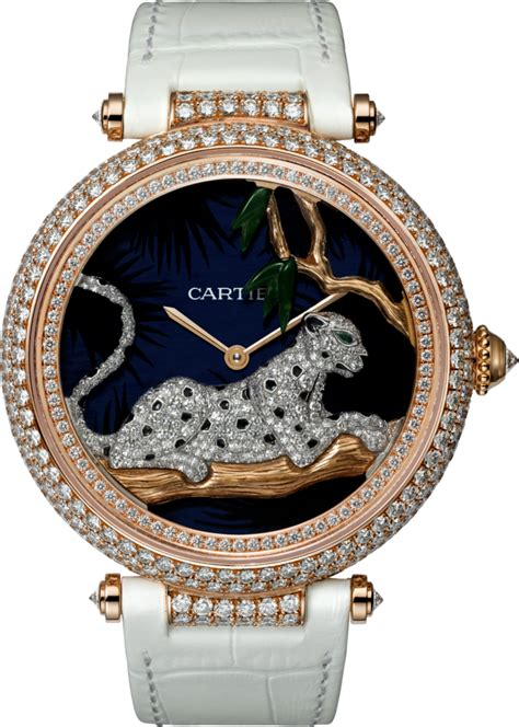 Red gold material makes the Cartier imitations shiny.