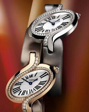 Hot duplication watches are shown with rose gold and white gold forms.