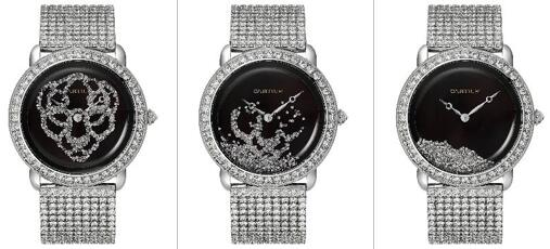 Luxurious knock-off watches online are made of white gold.