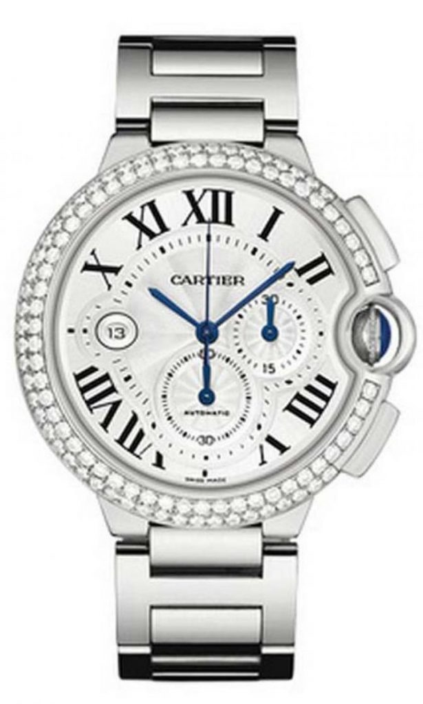 The male copy watches have silvery dials.