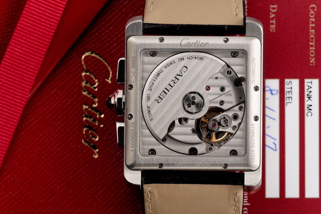 The male replica watches are made from stainless steel.