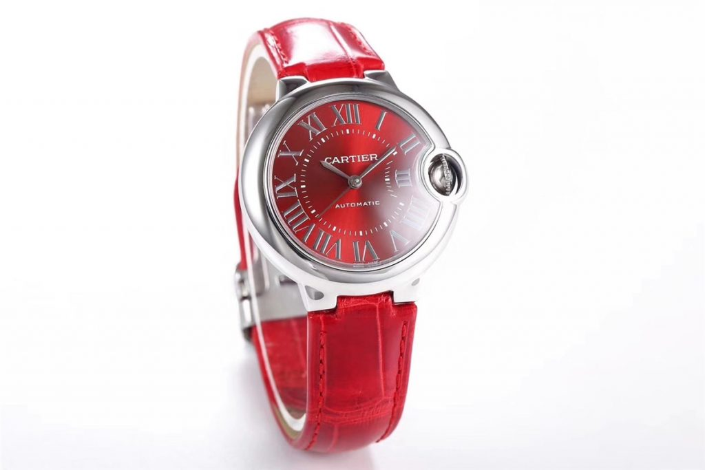 The red Ballon Bleu de Cartier is good choice for women.