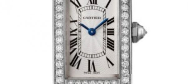 The 18k white gold fake watch has a white dial.