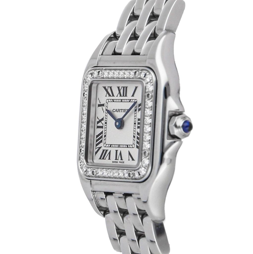 The 20*30mm fake watch is made from polished stainless steel.