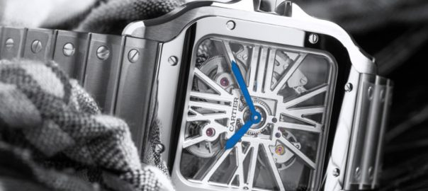 The skeleton dial fake watch is designed for men.